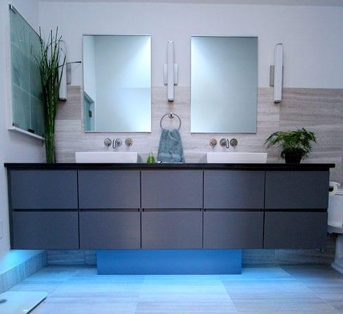 cool grey white bathroom vanity | Cool Gray Vanity - Your Bath Store